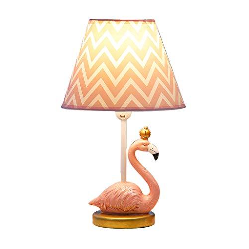 Creative Romantique Flamant Roi Lampe De Table LED Chambre Rose Lampe De Chevet Chambre D'enfant Fille Mignonne INS Lampe De Table De Bande Dessinée Dimmable Nuit Lumière