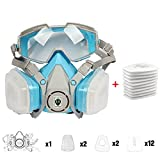 Full Face Protective Respirator with Filter Box and Replaceable Filters Cotton Widely Used In Organic Gas Spray Paint Chemical Anti-Formaldehyd