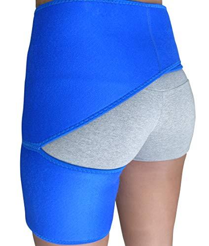 Sciatica Brace for Women Men - Hip Support Brace for Thigh Hamstring Hip Bursitis Arthritis Hip Flexor Injury - Hip Stabilizer Brace - Groin Compression Spica Wrap for Strain Pull - Sciatic Nerve Brace Si Joint Brace Belt Labral Tear Hip Brace