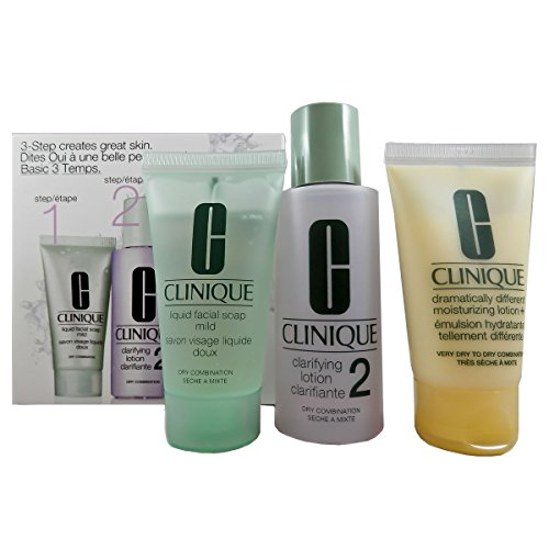 Clinique 3-Phasen-Systempflege Hauttyp 2 (Liquid Facial Soap, Clarifying Lotion Plus Dramatically Different Moisturizing Lotion), 1 Stück