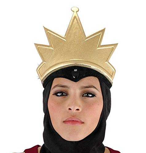 Disney Snow White Evil Queen Costume Crown and Cowl Headpiece for Adults