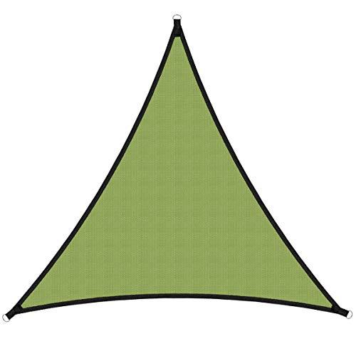 Sooair Vela Ombreggiante -3x3x3 m Tenda a Vela Triangolare, Vela Parasole Triangolare Impermeabile Protezione Raggi UV Antistrappo per Giardino, Esterno, Terrazza, Campeggio (Verde Militare)