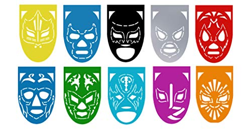 LUCHA LIBRE Mexican Wrestlers Large Plastic Mexican Papel Picado Banner – 10 Panels – 18 Feet Long - Mexican Party Supplies Decorations – Medium Size (9x13