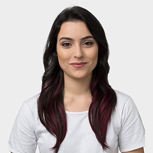 Aplique De Cabelo Ombre Extension Hairdo 40cm Preto Ameixa