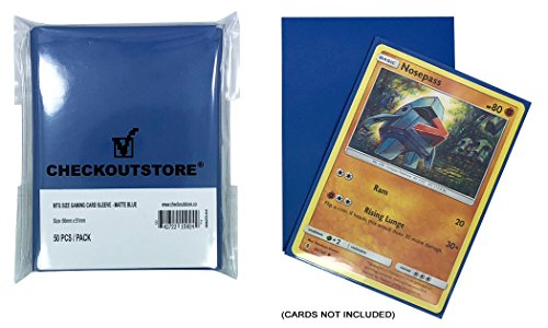 CheckOutStore 2,000 Matte Blue Protective Sleeves for Trading Cards (66 x 91 mm) image