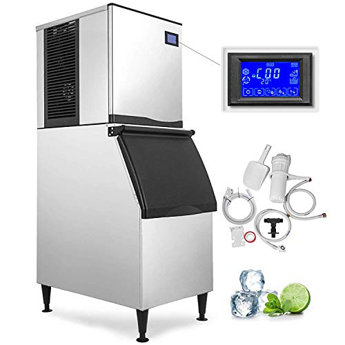 VEVOR 110V Commercial Ice Maker 400LBS/24H with 350LBS Storage Capacity Commercial Ice Machine