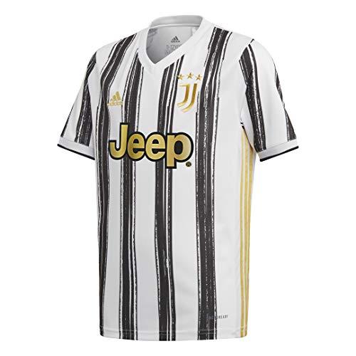 Juventus Camiseta de la temporada 2020/2021, para niño, 100 % producto oficial, 100 % original. Elige la talla, Blanco y negro, Taglia 7/8 anni