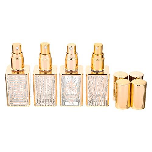 Lurrose 4 unids Perfume Recargable Vacío Viaje Perfume Spray Botella de Vidrio Maquillaje Pulverizador Fino Mist Envase Cosmético para Aceites Esenciales Producto de Belleza 12ml Estilo Mezcl