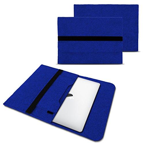 NAUC Laptop Tasche Sleeve Hülle Schutztasche Filz Cover für Tablets & Notebooks Farbauswahl kompatibel für Samsung Apple Asus Medion Lenovo, Farben:Blau, Größe:12.5-13.3 Zoll