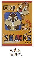 ディズニー お年玉 ポチ袋 5枚入り チップ&デール 当店オリジナルロゴ入りシール 2点セット(ポチ袋、シール)