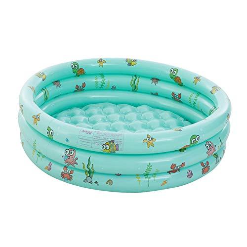 B/S Piscina hinchable gruesa redonda hinchable, bañera móvil de plástico, juguete de agua para bebés y niños al aire libre, 130 x 40 cm