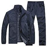 Herren Sportswear Sportanzug Jacke + Hose Jogger Sweatsuit Männer Trainingsanzug Gr. XXXXL, blau