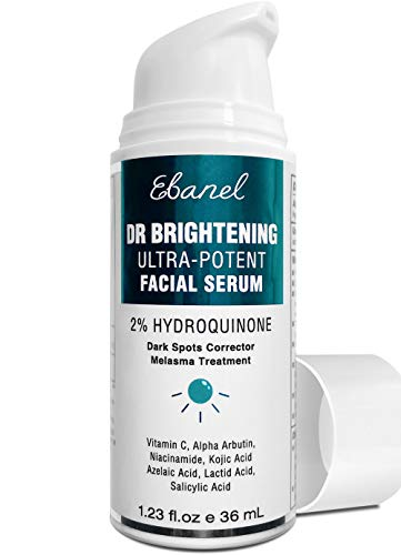 2% Hydroquinone Dark Spot Corrector Remover Brightening Serum, Skin Lightening Serum Hyperpigmentation Melasma Treatment with Kojic Acid, Alpha Arbutin, AHA, Salicylic Acid, Niacinamide, Azelaic Acid