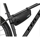 ROSWHEEL 自転車 ナイロンバッグ 防水 MTB ロード マウンテン バイク トライアングル バッグ 多機能 バイク 修理ツール バッグ トップチューブ フレーム バッグ 1.1L