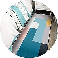 ZEMIN リビングルーム カーペット エリアラグ じゅうた ステイン/フェード耐性 シェッドフリー 抽象、 15mm 厚さ、 キッチン、 幾何学的な (Color : A, Size : 0.8x1m)