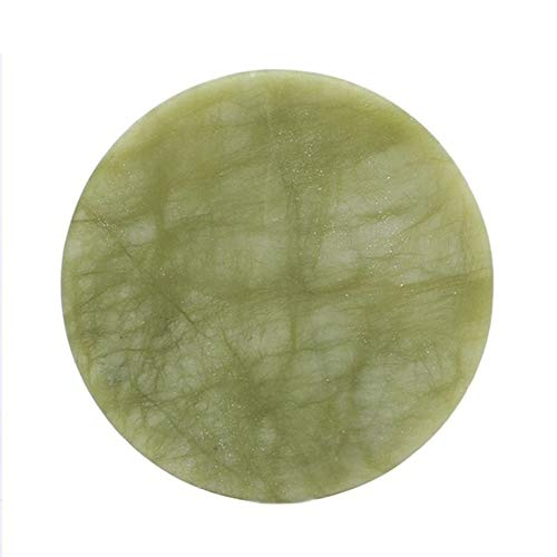 Extension de cils Colle Adhésif Palette Pad - Pierre de Jade Naturel Faux Cils Extension Colle Adhésive Palette Pad Pad pour Extensions de Cils Colle Outil de Maquillage - Mix Couleur