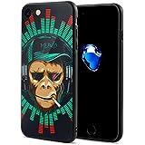 動物 サル マンキー ゴリラ チンパンジー スマホケース IPhone8 ケース IPhone7 ケース おしゃれ 個性的 耐衝撃