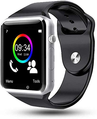NO BRAND Inteligente watchSmart Reloj del Deporte del podómetro Sim TF cámara Fitnesse Pulsera Tracker for Android iOS Huawei Xiaomi Vs Dz09 X6 P18 (Color : Silver)