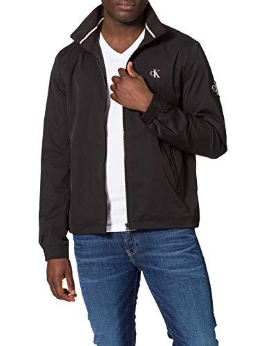 Calvin Klein Jeans Herren NYLON HARRINGTON Anorak, Ck Schwarz, L