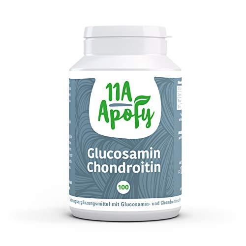 11A-Apofy | Glucosamin Chondroitin | Glucosaminsulfat aus veganer Quelle | 100 Kapseln