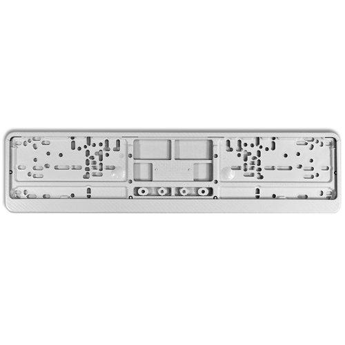 KFZ Kennzeichenhalter Design Nummernschildhalter (Carbon Race White - 40021)