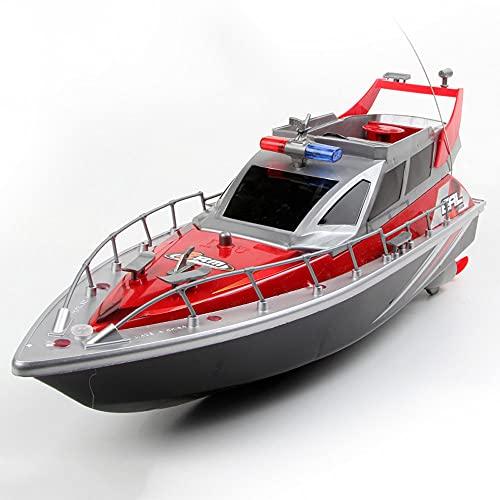 QHYZRV Motoscafo della Polizia a Quattro canali Estate Gioco competitivo in Acqua Barche telecomandate Impermeabili ad Alta velocità per Piscine e Laghi Giocattoli per Barche elettriche per Bambini e
