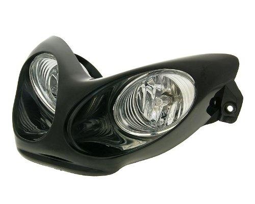 Scheinwerfer Doppeloptik Halogen schwarz für Yamaha Aerox 50 Cat. (03-12)
