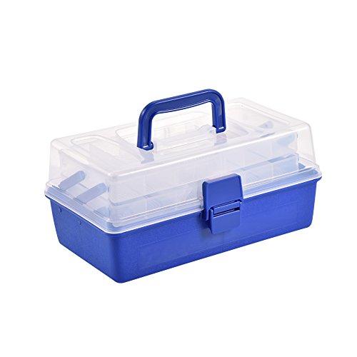 VGEBY Caja de Aparejos de Pesca, 3 Capas Caja de Herramientas de polizón para Accesorios de Pesca Caja de Herramientas de polizón para Ganchos Señuelos