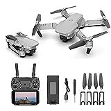 Dron 4K HD con cámara Dual Gran Angular, Control Remoto WiFi de retención de Altura Quadcopter Plegable para Adultos Avión de Juguete de Regalo Minutos Largos Estuche de Transporte para Tiempo de vue