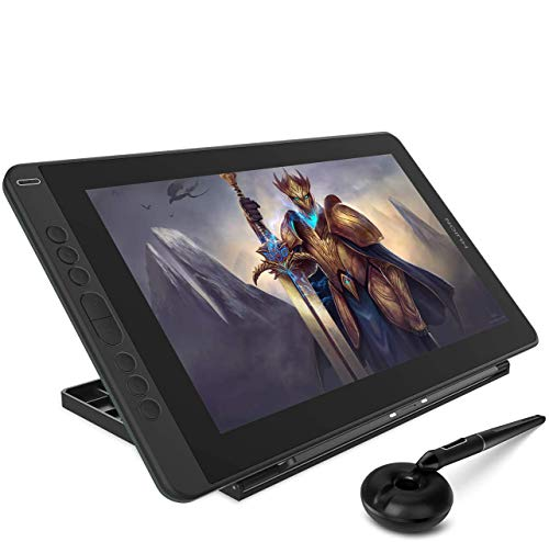 2020 HUION Kamvas 13 Graphics Drawing Tablet with Screen Pen Display Full Laminated Screen Battery Free Stylus 8192 Pressure Sensitivity Tilt 8 Express Keys with Adjustable stand-13.3inch, Green