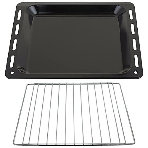 SPARES2GO Bandeja para hornear + estante extensible compatible con cocina de horno Whirlpool