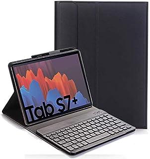 comprar comparacion RLTech Teclado Funda para Samsung Galaxy Tab S7+, QWERTY Ultra Slim Teclado Case con Magnético Desmontable Inalámbrico par...
