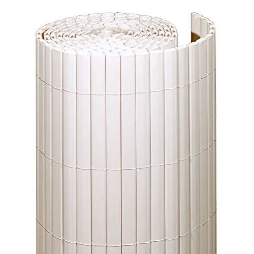 Videx-Sichtschutzmatte Rügen, Kunststoff weiß, 140 x 300cm