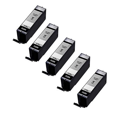 Cartuchos de tinta 570 571 para Canon Pixma MG 5700 5750 5751 5752 de alta capacidad compatible con impresoras de inyección de tinta, color negro