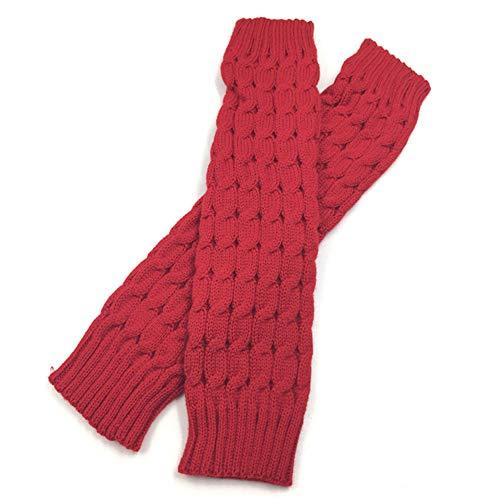 XBRTFH Mujeres Knit Boot Grid Calentadores De Piernas Tejidos Calcetines Largos De Botas Calentador De Piernas De Invierno