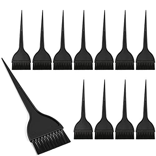 Hair Dye Coloring Tint Brush Applicator Salon Brushes (12 Pack, Black)