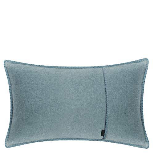 Soft Fleece Cushion Cover - Polar Fleece with Crochet Stitch - Soft, Sofa Cushion Cover - 30 x 50 cm - 545 Denim - by 'Zoeppritz since 1828'