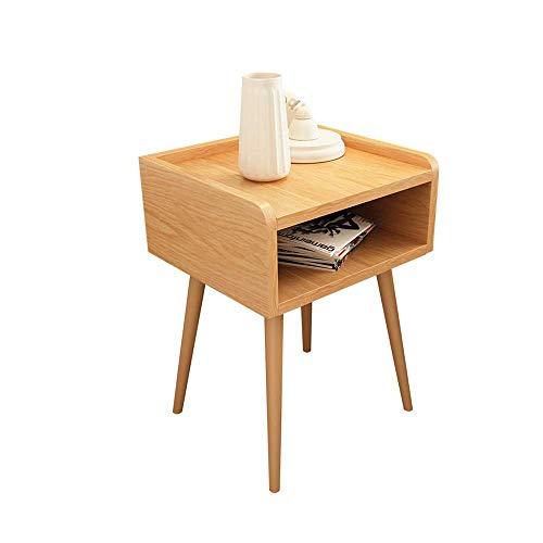 Tägliche Ausstattung Nachttischschränke Beistelltisch Beistelltisch Robuster und einfach zu montierender Nachttisch mit Schublade für Wohnzimmer Retro-Nachttisch (Farbe: Holz Farbe Größe: 39x35x55c