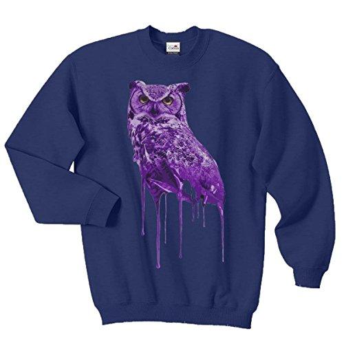 Pure Cotton Ovoxo Sweatshirt Jumper Eule Drake Lil Wayne YMCMB Swaetshirt Fresh Dope Herren Damen Gr. S / 88,90-93,98 cm, Navy