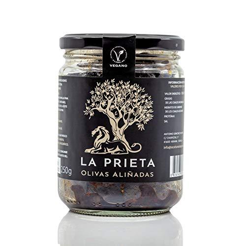 Aceitunas Prietas Negras Deshidratadas Kalamata Española 100% Natural ideal para Aperitivos Veganos Aceituna Aliñada Rica en Fibra