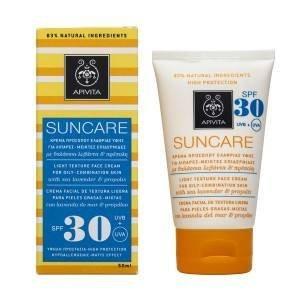 Apivita Face Sunscreen Spf30 for Oily Combination Skin 50ml