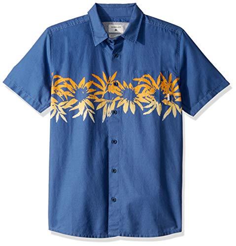 Quiksilver Jungen Choppa Short Sleeve Youth Woven TOP Button Down Hemd, True Navy, Mittel