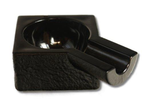 Zigarren Aschenbecher Einzelablage schwarz inkl. Lifestyle-Ambiente Tastingbogen