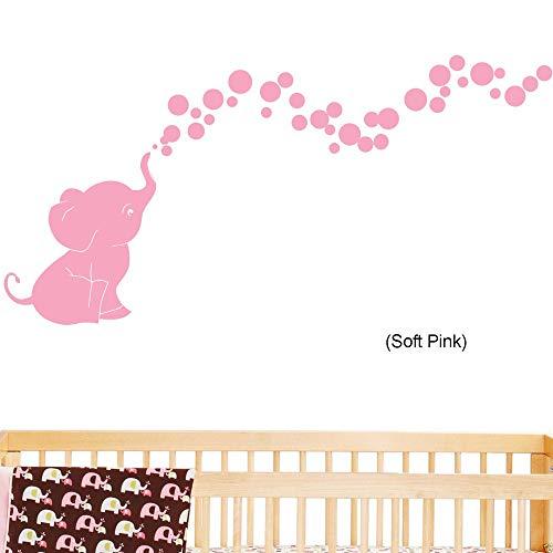 stickers muraux bebe disney Éléphant soufflant des bulles bébé mur décoration chambre d'enfant
