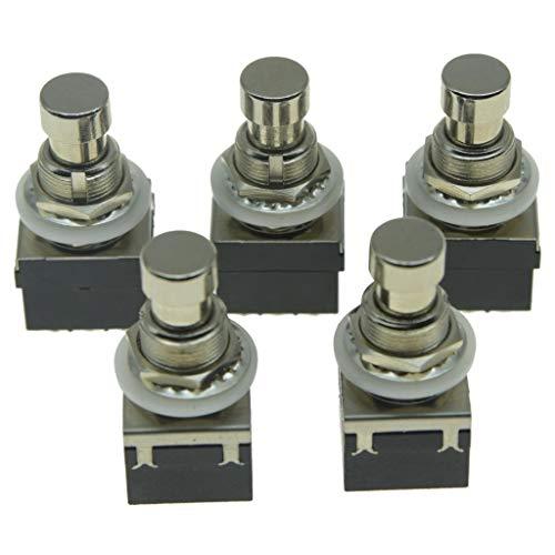 KAISH Pack van 5 Box Stomp 9-Pin 3PDT Elektrische Gitaar Effect Pedaal Schakelaars Drukknop Voetwitches True Bypass…