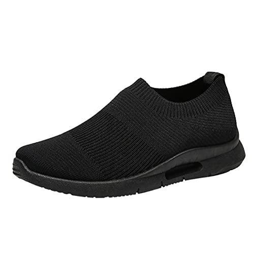 Zapatillas deportivas para hombre de malla para correr, para caminar, gimnasio, correr, Black, 41 1/3 EU