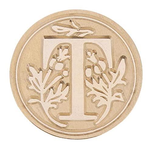 1 sello de cera retro de 26 letras A - Z sello de la letra del alfabeto retro de madera kits de reemplazar la cabeza de cobre herramientas conjuntos Post Decor-T, Francia