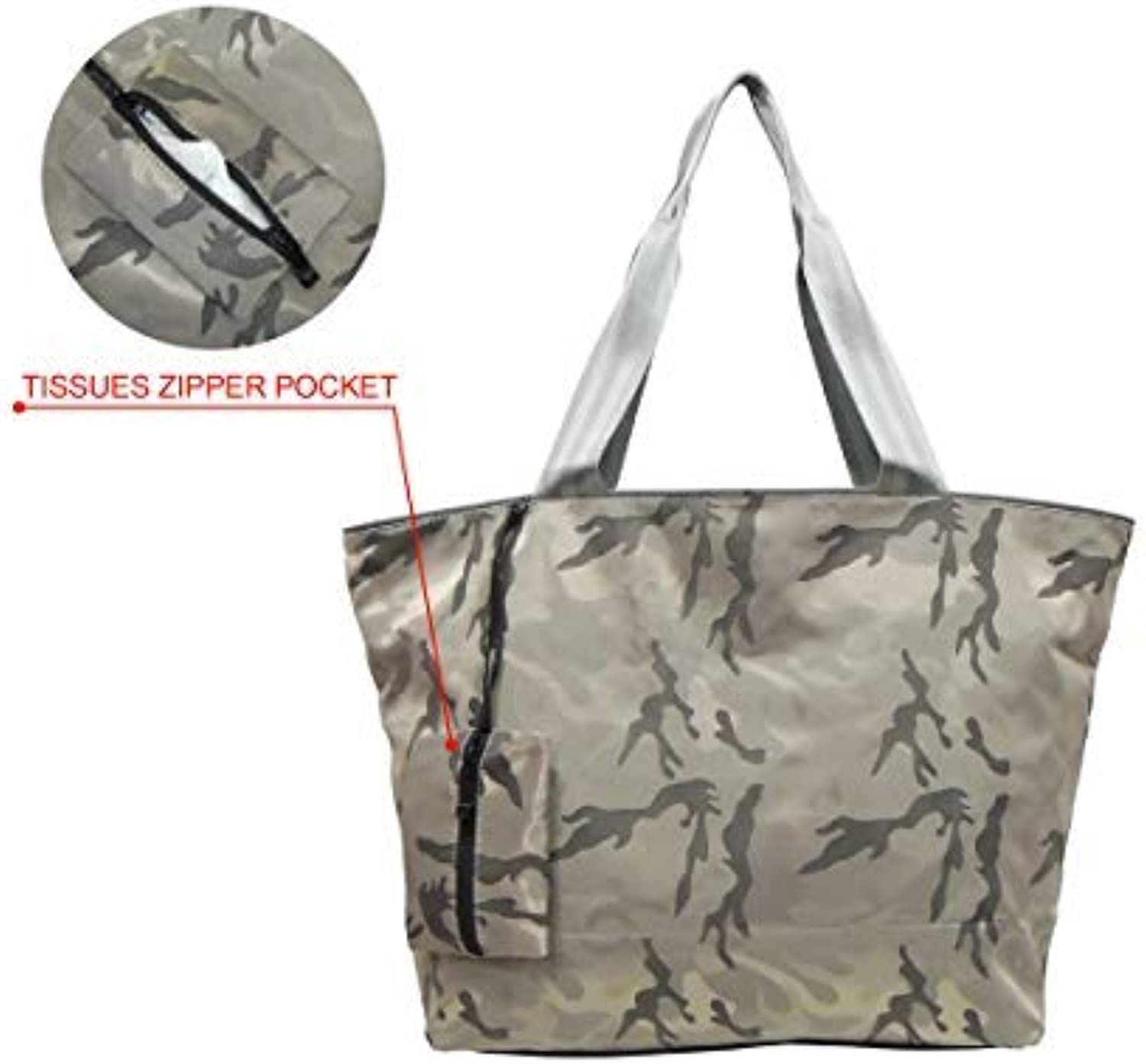 Maxpero Camo Tote Bag Shoulder Bag for Ladies Women