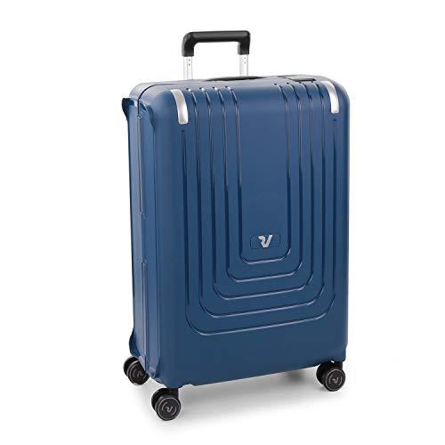 Roncato Nexus Maleta rigida Grande Azul 4 Ruedas con candado TSA 77 x 51 x 30 cm Capacidad 110 l