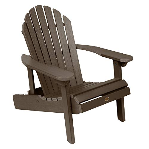 Highwood AD-CHL1-ACE Hamilton Made in the USA Adirondack Chair, Adult Size, Weathered Acorn